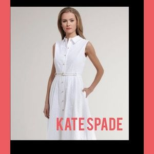 kate spade eyelet white dress